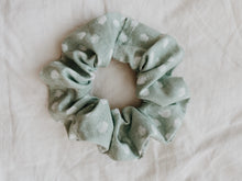 Load image into Gallery viewer, MINT POLKA DOT SCRUNCHIE - Olive Lynn