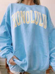 "BLUE ""HONOLULU"" SWEATSHIRT - Olive Lynn"