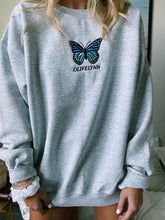 Load image into Gallery viewer, OLIVELYNN BLUE BUTTERFLY SWEATSHIRT - Olive Lynn