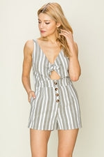 THICK STRAP FRONT TIE ROMPER