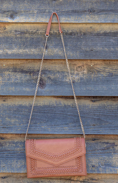 CLUTCH W/ GOLD CHAIN CROSSBODY