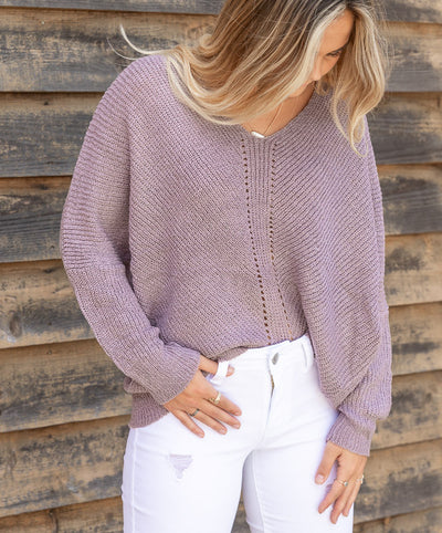 V-NECK LOOSE KNIT SWEATER