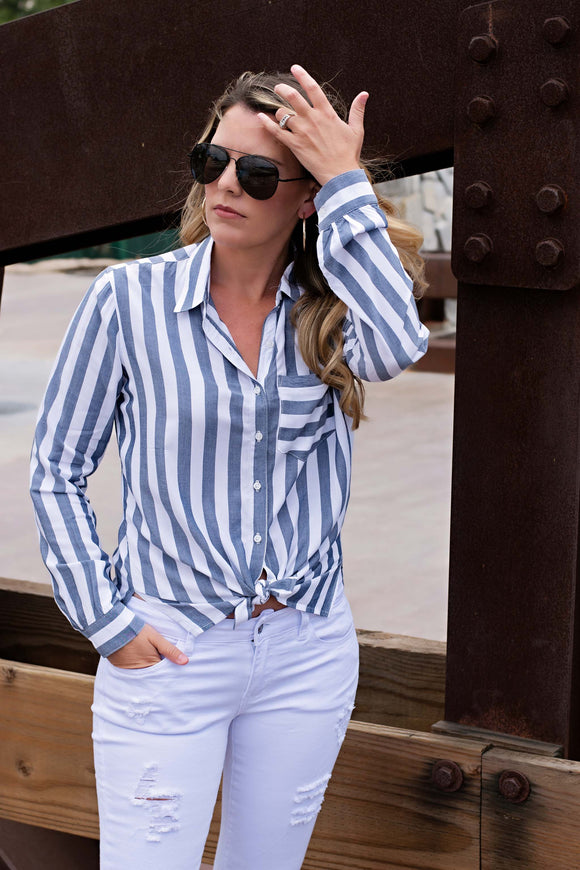 STRIPED BUTTON DOWN