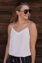 BUTTON BACK V-NECK CAMI