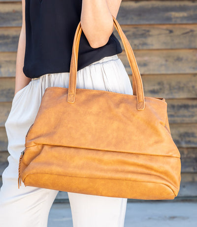 VEGAN LEATHER OVERSIZED BAG