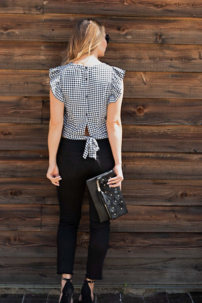 RUFFLE GINGHAM TOP