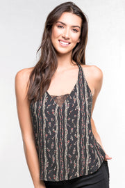 PRINTED LACE CAMI