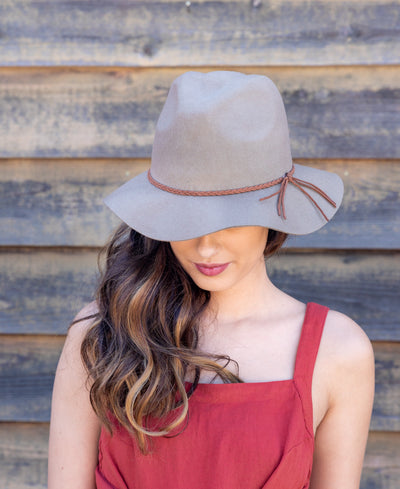 FEDORA w/ BRAIDED BAND