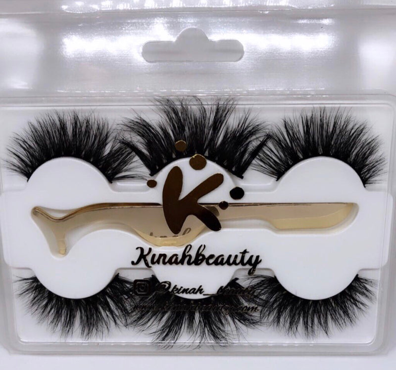 3 Pairs 3D Mink Lashes with Tweezer