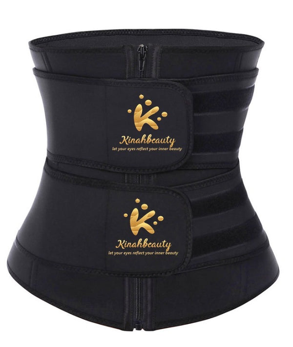Kinahbeauty Latex double belt Waist trainer
