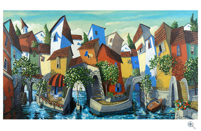 Bungalows living by the waters edge. - in Gentle Waters By Miguel Freitas