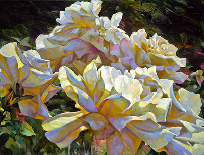 White Roses By Leon Roulette