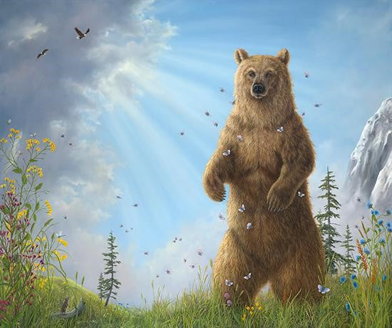 Majesty By Robert Bissell - A brown bear standing tall,