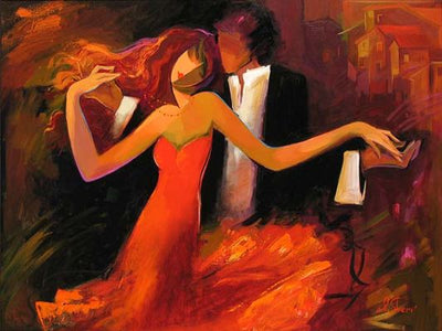 Swept Away - as the couple dances by Irene Sheri