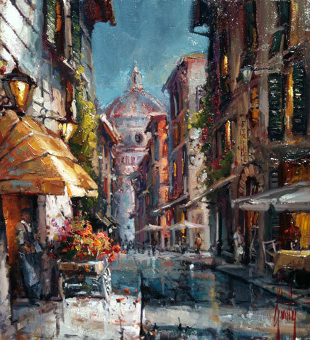 After the Rain By Steven Quartly - European village