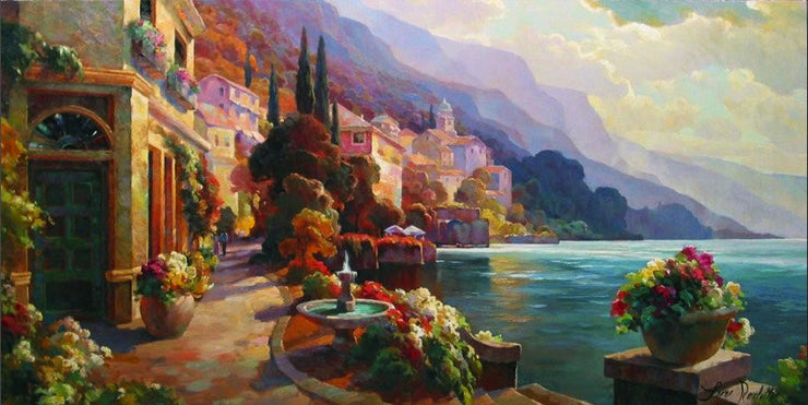 Lake Como Stroll By Leon Roulette