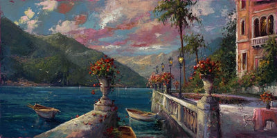 A view of Lake Como from the Tuscan Veranda.