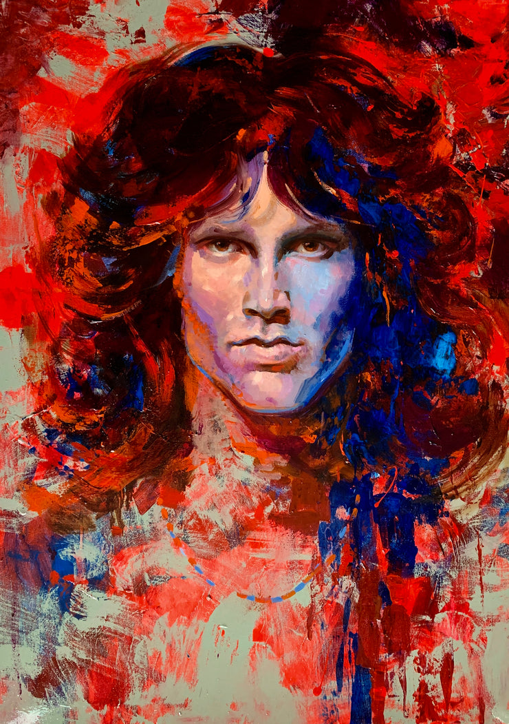 Portrait of Jim Morrison lead singer of The Doors.