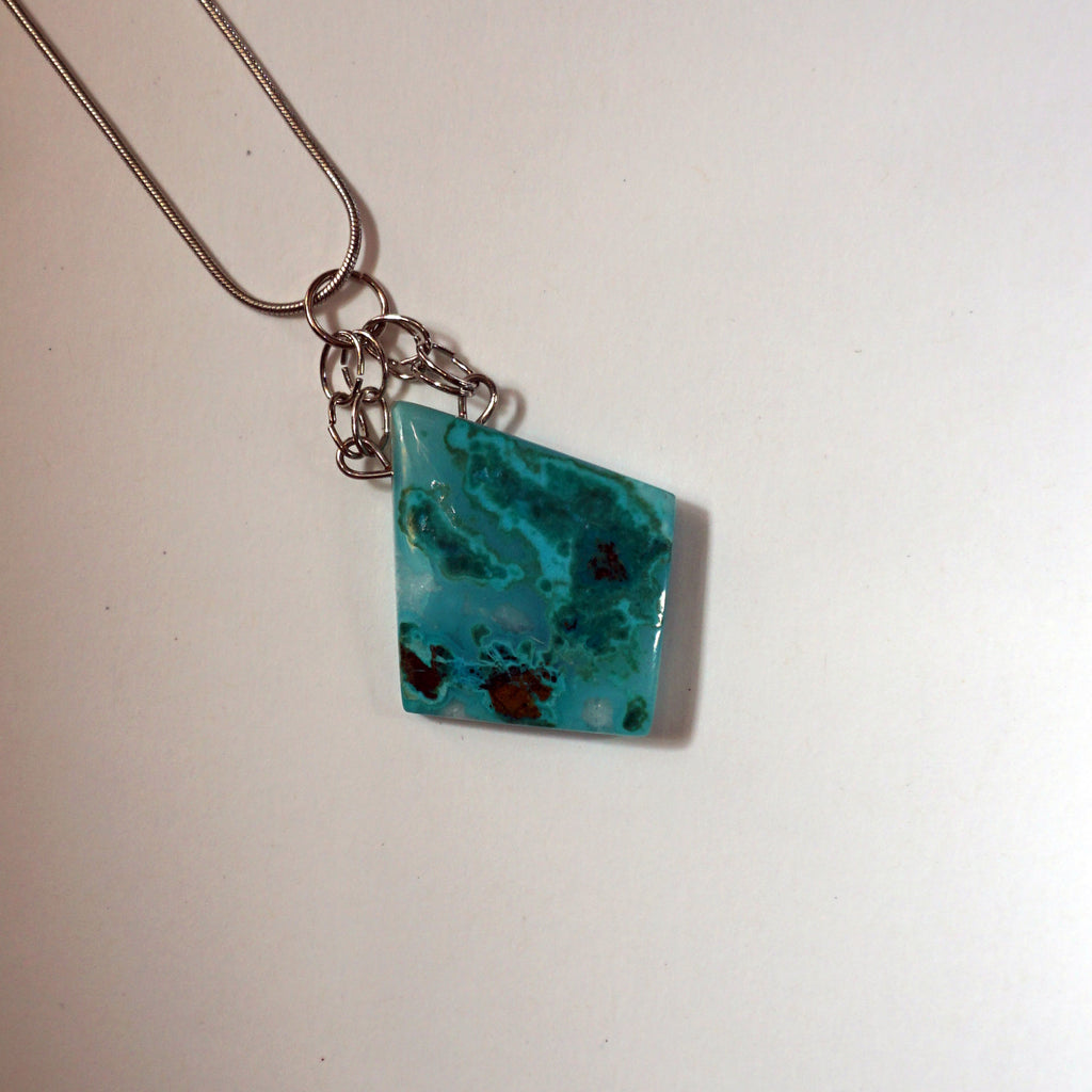 Chrysocolla Island Necklace
