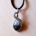 Tourmalinated Quartz Necklace
