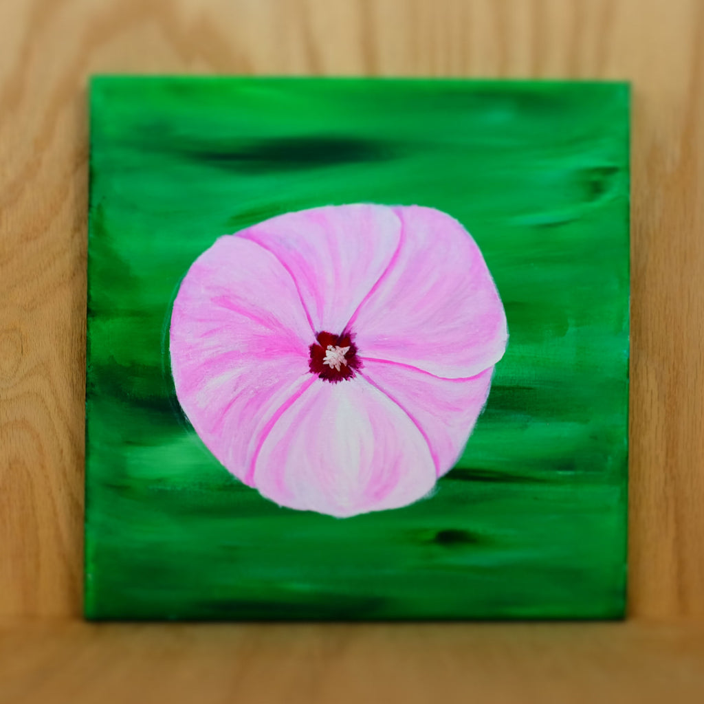 Pink Petunia Painting - Grey Wolf | White Owl
