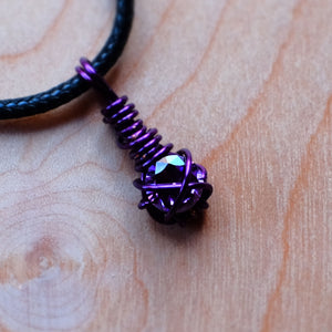 Faceted Amethyst Necklace - Grey Wolf | White Owl