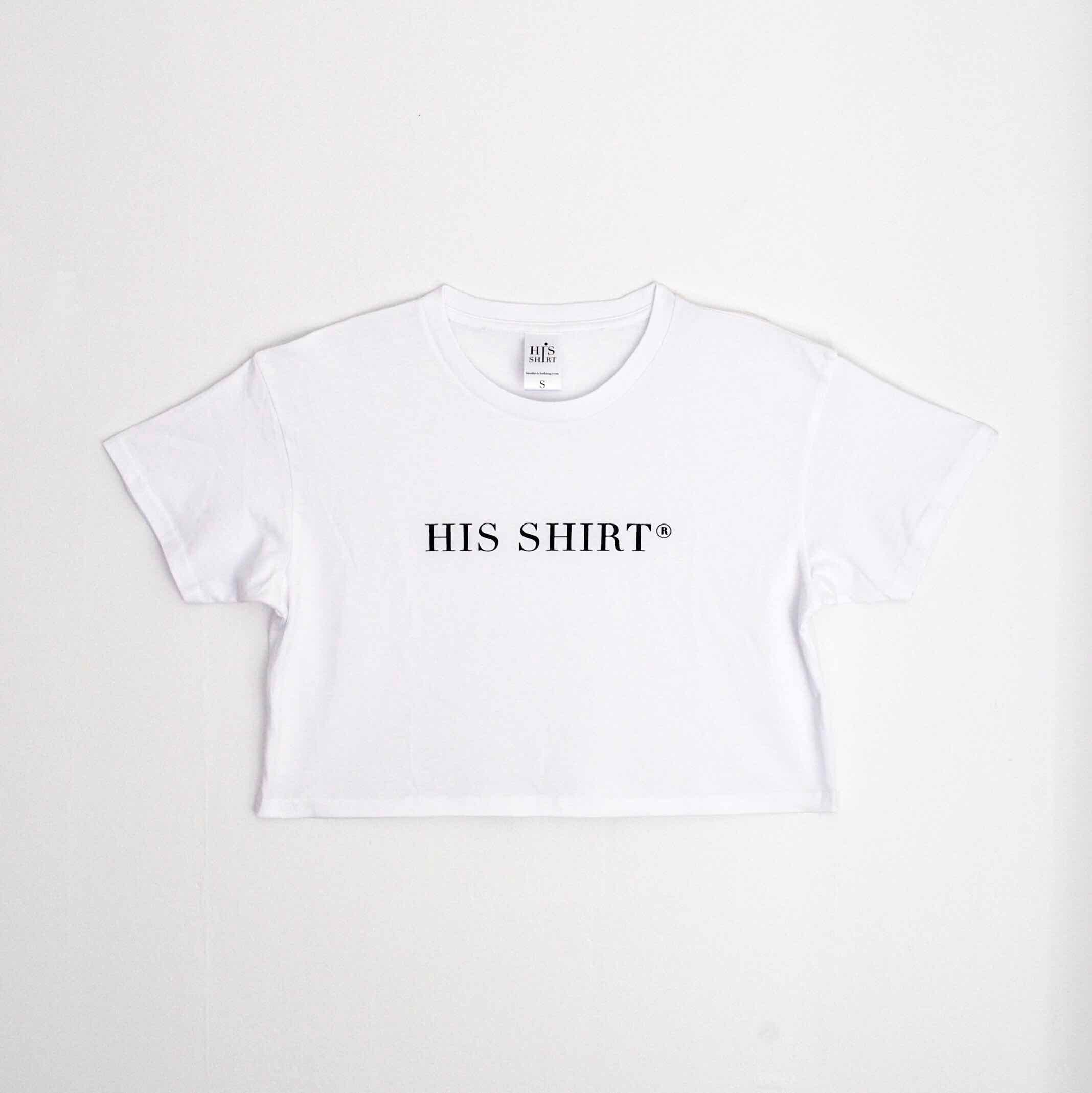 His Cropped Tee (White)