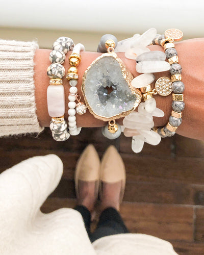 Laura Müer Natural Stones Beaded Bracelet