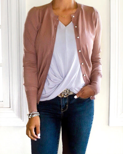 Classic Fitted Cardigan