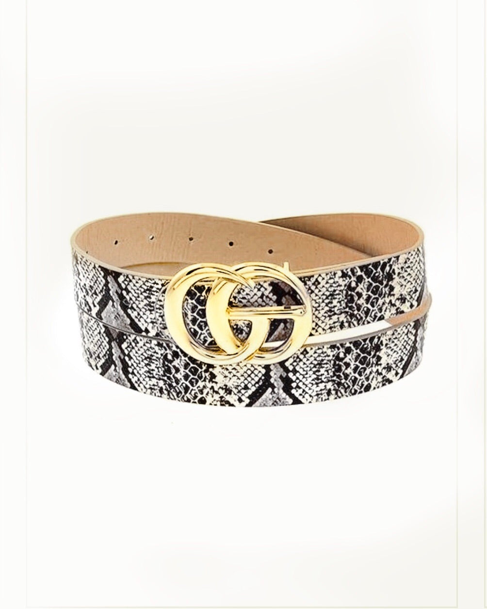 Snake Skin Fashion Belt