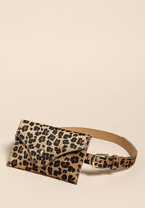 LEOPARD WAIST BAG CLUTCH