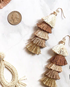 Ombré Earth tones Tassel Earrings