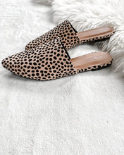 Animal Print faux Suede Mules