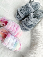 Fluffy Fuzzy Slippers Slides With Ankle Strap
