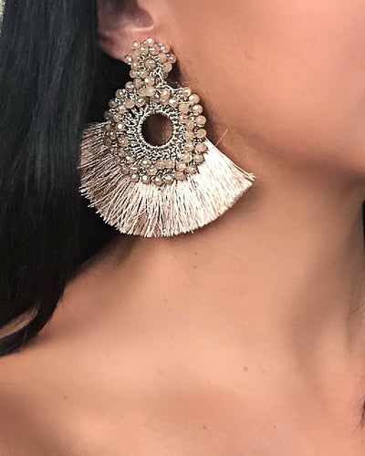 Glam Beaded Statement Earrings