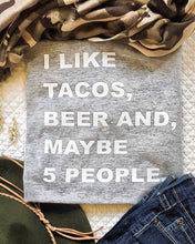 I Like Tacos, Beer T-shirt