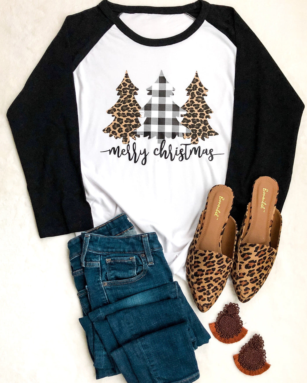 Merry Christmas Raglan T-shirt