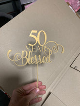 50 Years Blessed Cake Topper - Harper Maddison