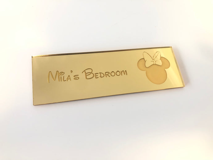 Personalised Minnie Mouse Bedroom Door Plaque Kids - Harper Maddison
