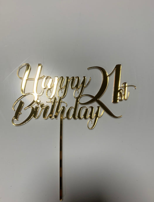 Happy 21st Birthday Cake Topper - Harper Maddison