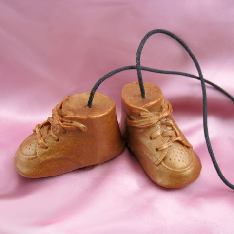 Kickin' It Old School Bronze Baby Shoes Soap on a Rope