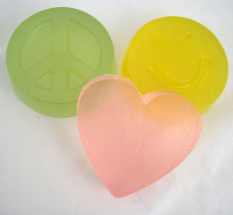 Peace Love and Happiness Soap Set