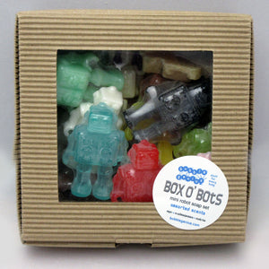 Box O' Bots Mini Robot Soap Set