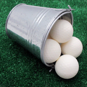 Oh, Balls!  Golf Ball Soap Gift Bucket