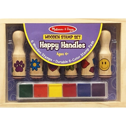 Happy Handles Wooden Stamp Set (12-Piece Set)