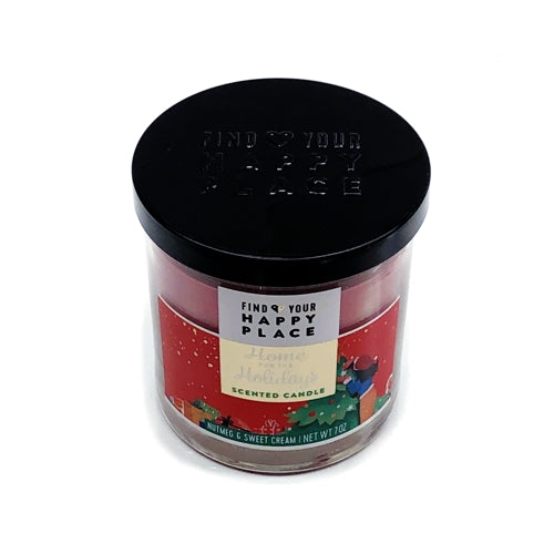 Home for The Holidays Scented Candle - Nutmeg and Sweet Cream (Net wt. 7 oz.)