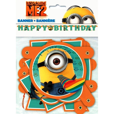 Despicable Me Minions Happy Birthday Party Banner (6.25 ft.)