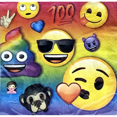 Iconic Emoji 2-Ply Party Napkins (16 count)