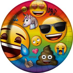 "Iconic Emoji 8.625"" Round Party Plates (8 count)"