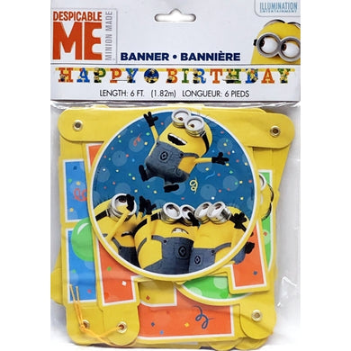 Despicable Me Minion Made Happy Birthday Party Banner (6 ft.)